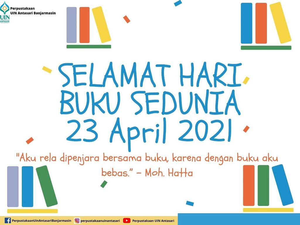 Selamat Memperingati Hari Buku Sedunia 23 April 2021