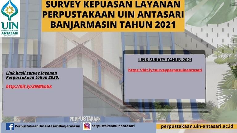 DATA SURVEI  KEPUASAN LAYANAN PERPUSTAKAAN 2021
